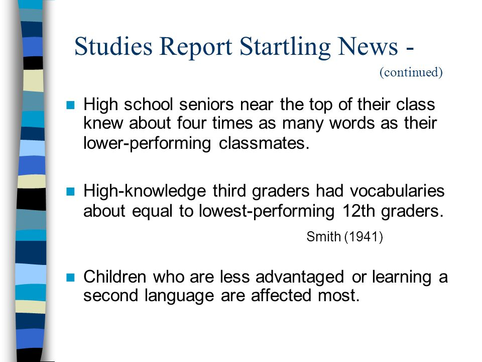 Studies Report Startling News - (continued)