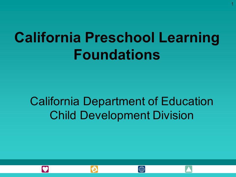 California Preschool Learning Foundations