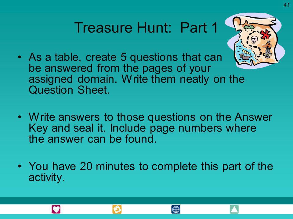 Treasure Hunt: Part 1
