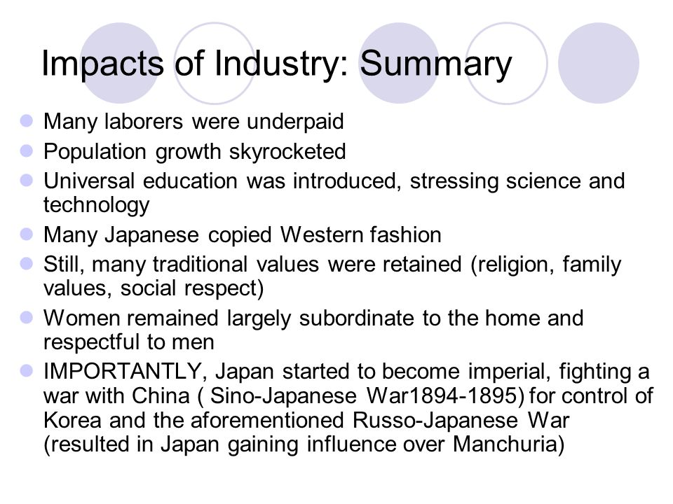 compare and contrast japan and russia industrialization Causes of industrial revolution  1  germany, japan,  geography provides them with an abundance of the natural resources needed for industrialization,.