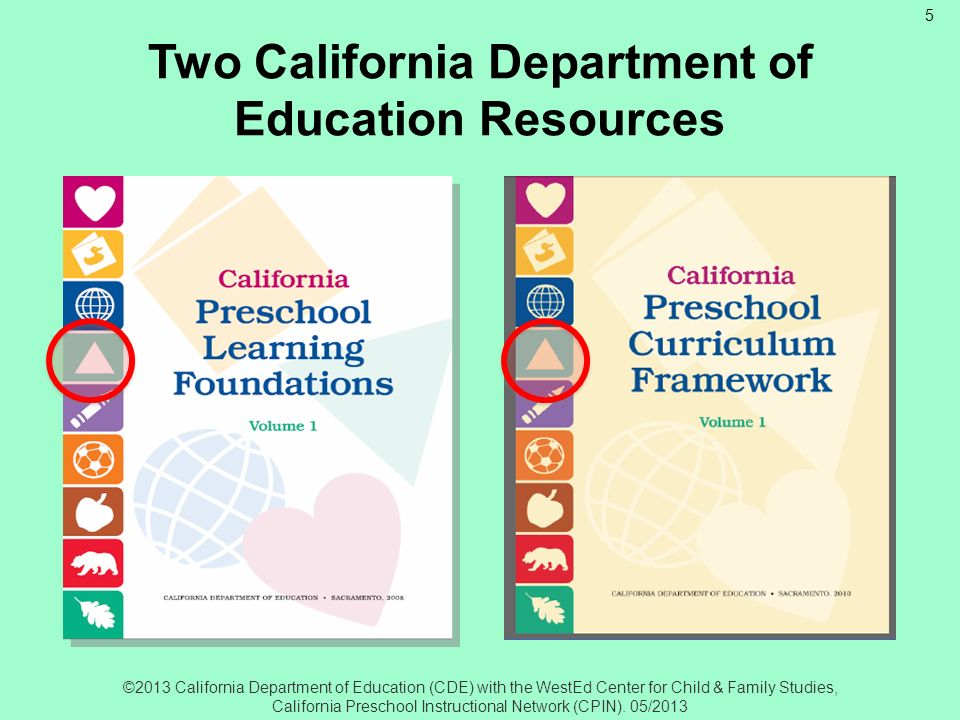 Two California Department of Education Resources