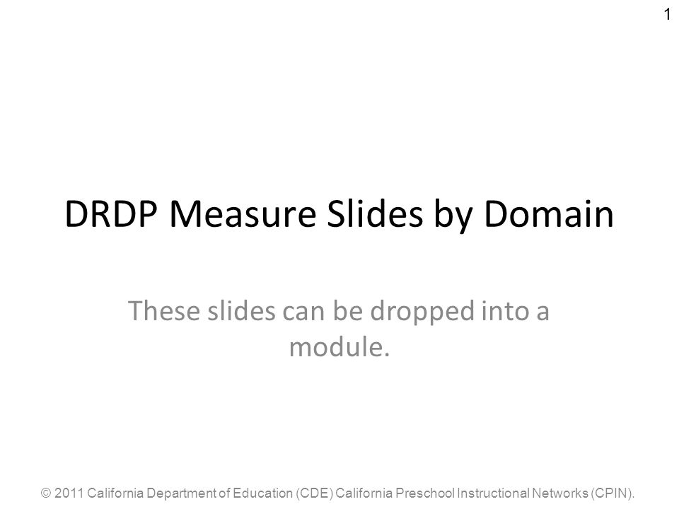 DRDP Measure Slides by Domain