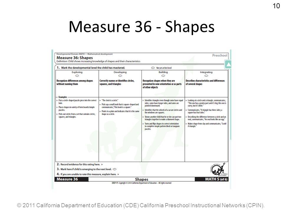 Measure 36 - Shapes