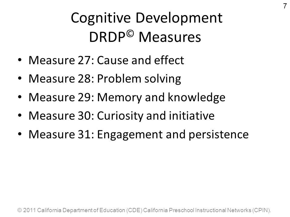 Cognitive Development DRDP© Measures