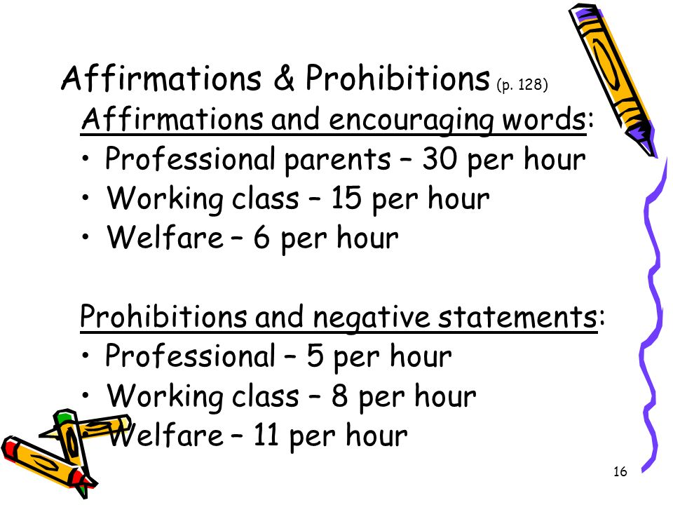 Affirmations & Prohibitions (p. 128)