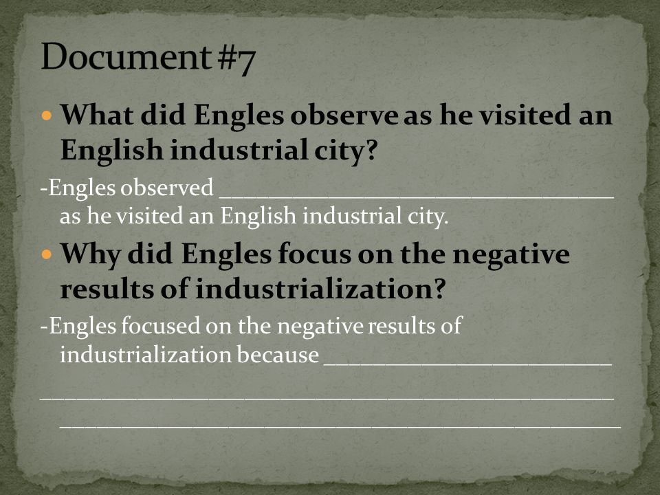Dbq essay on industrial revolution in england