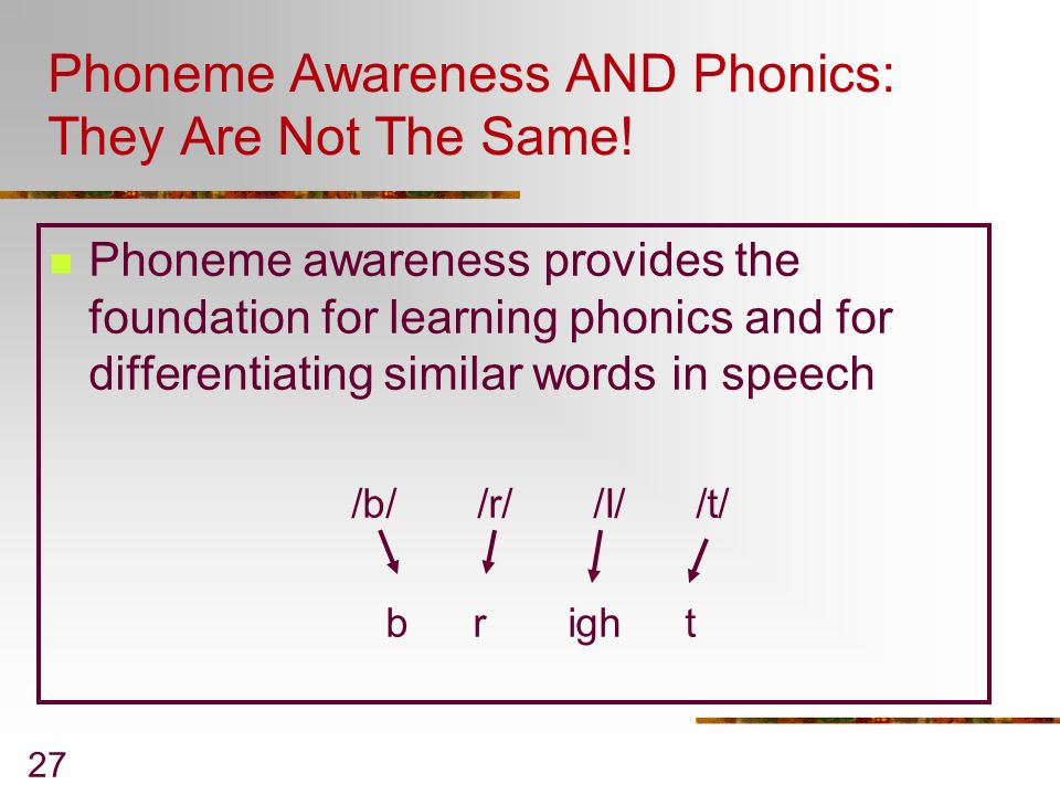 Phoneme Awareness AND Phonics: They Are Not The Same!