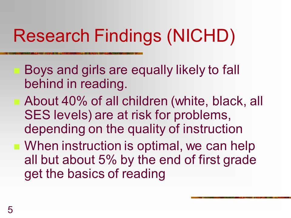 Research Findings (NICHD)