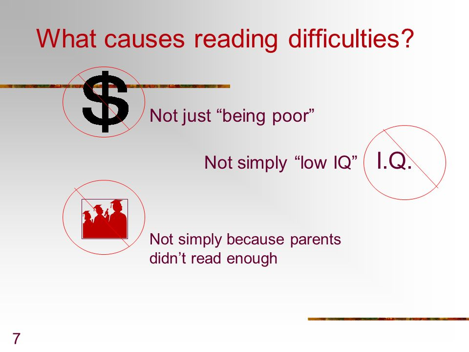 What causes reading difficulties