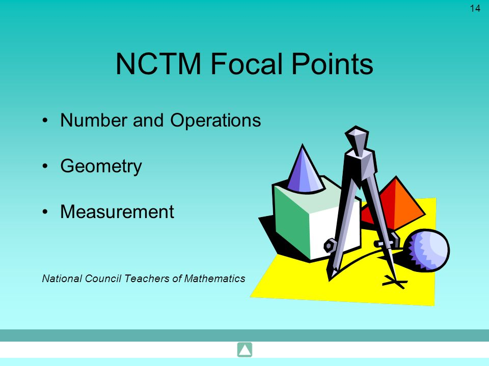NCTM Focal Points Number and Operations Geometry Measurement