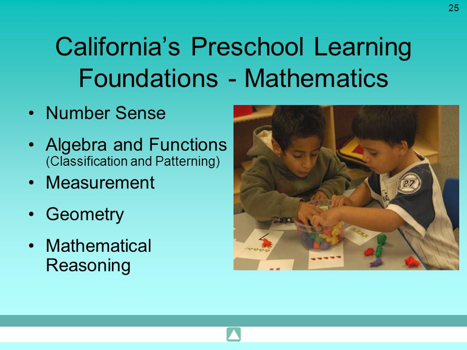 California's Preschool Learning Foundations - Mathematics