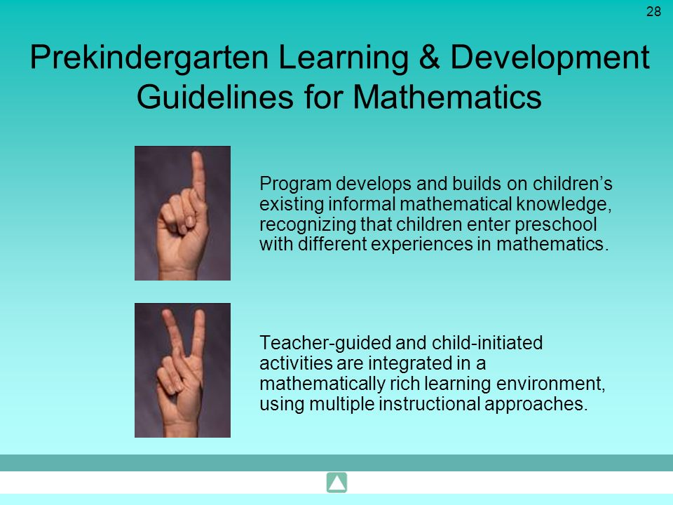 Prekindergarten Learning & Development Guidelines for Mathematics