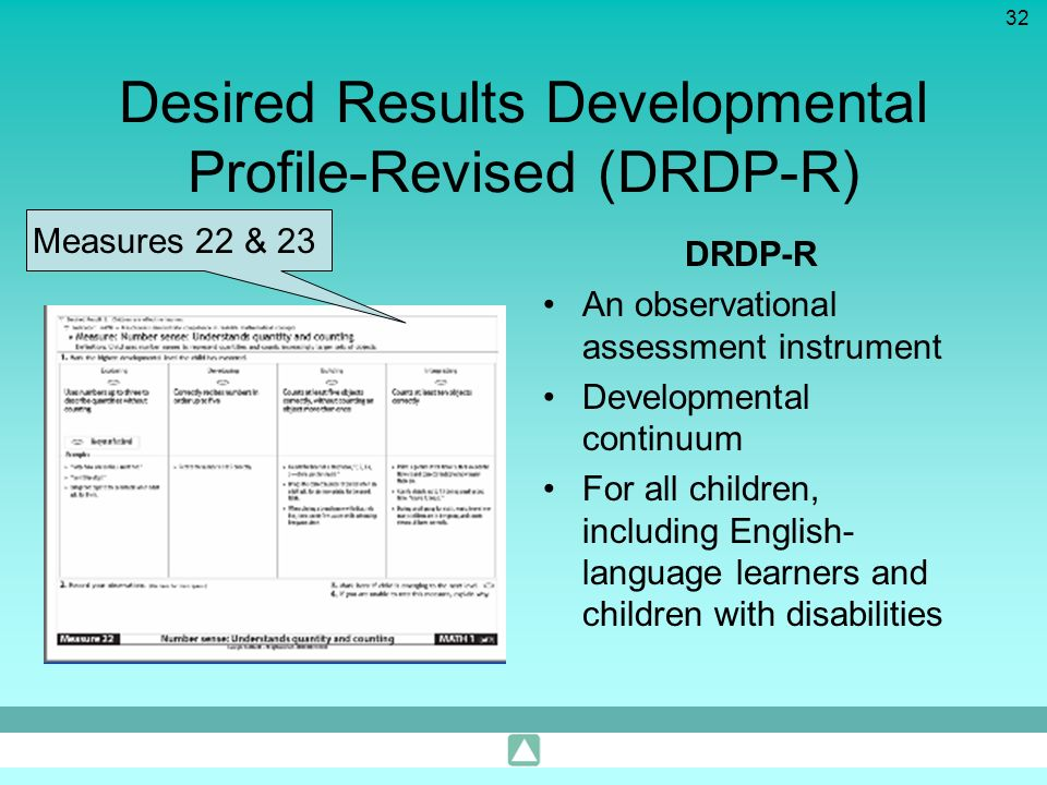 Desired Results Developmental Profile-Revised (DRDP-R)