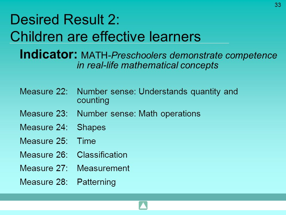 Desired Result 2: Children are effective learners