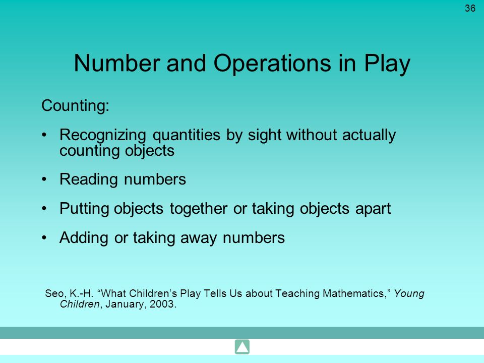 Number and Operations in Play
