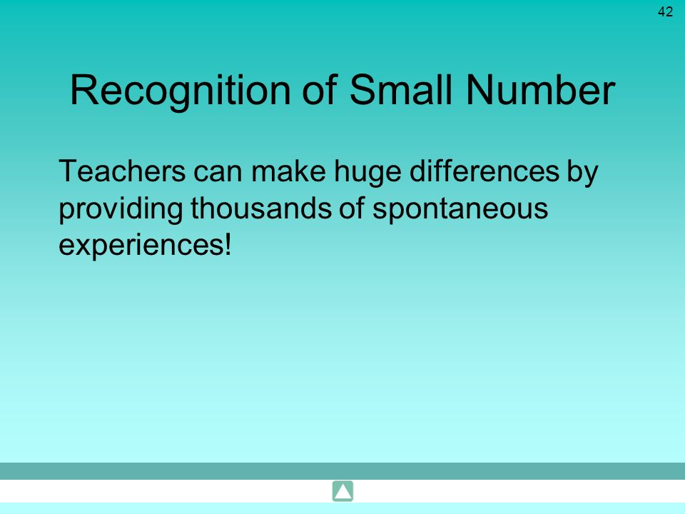 Recognition of Small Number