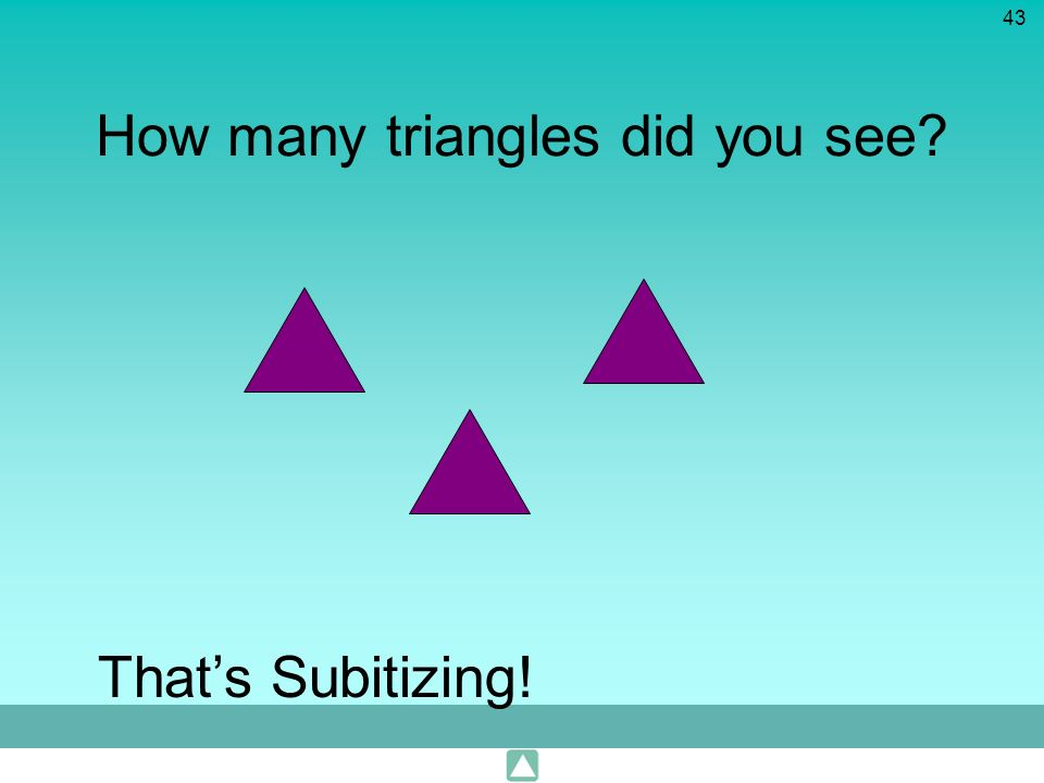 How many triangles did you see