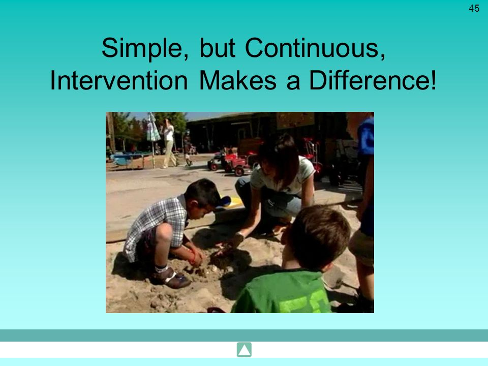 Simple, but Continuous, Intervention Makes a Difference!