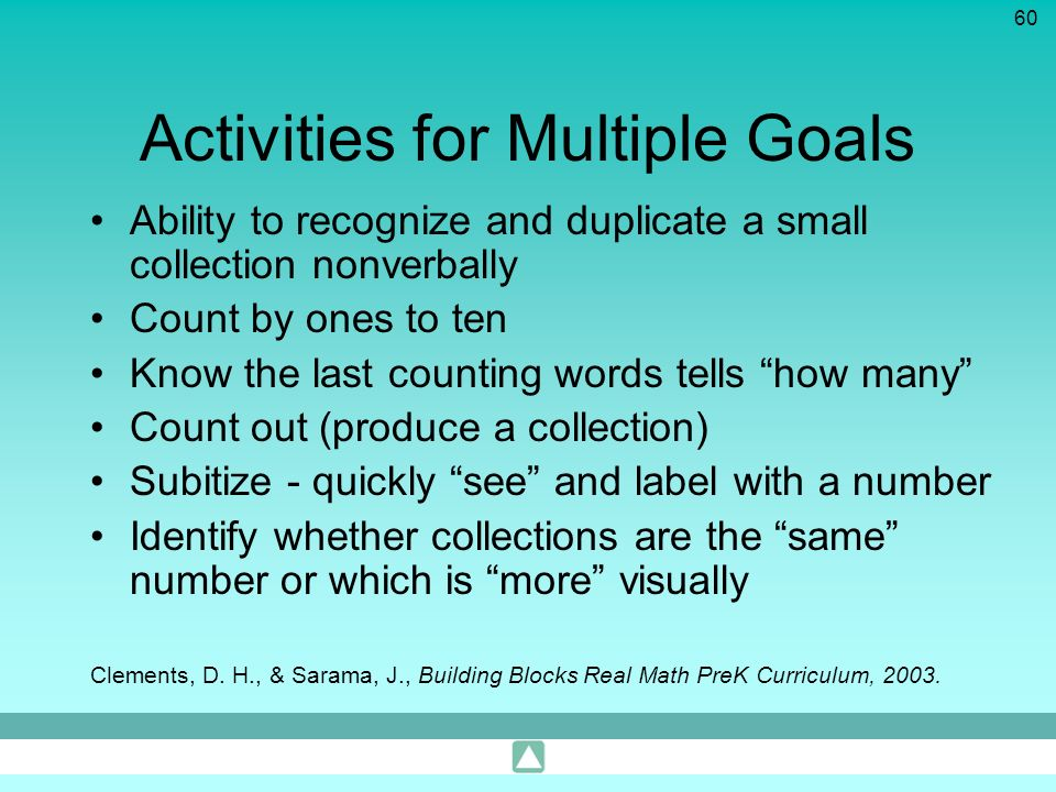 Activities for Multiple Goals