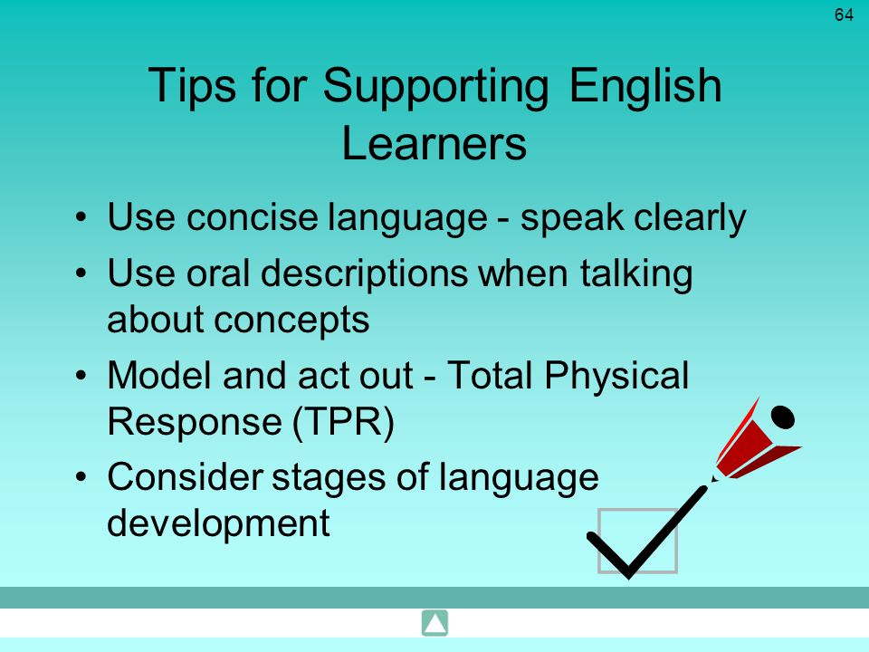 Tips for Supporting English Learners