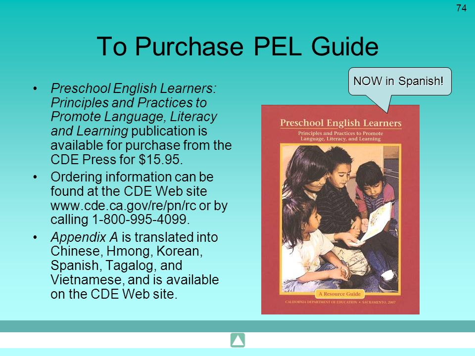 To Purchase PEL Guide NOW in Spanish!