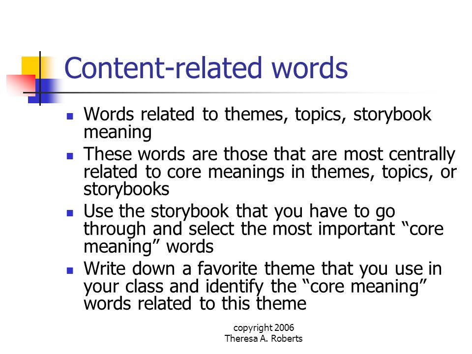 Content-related words