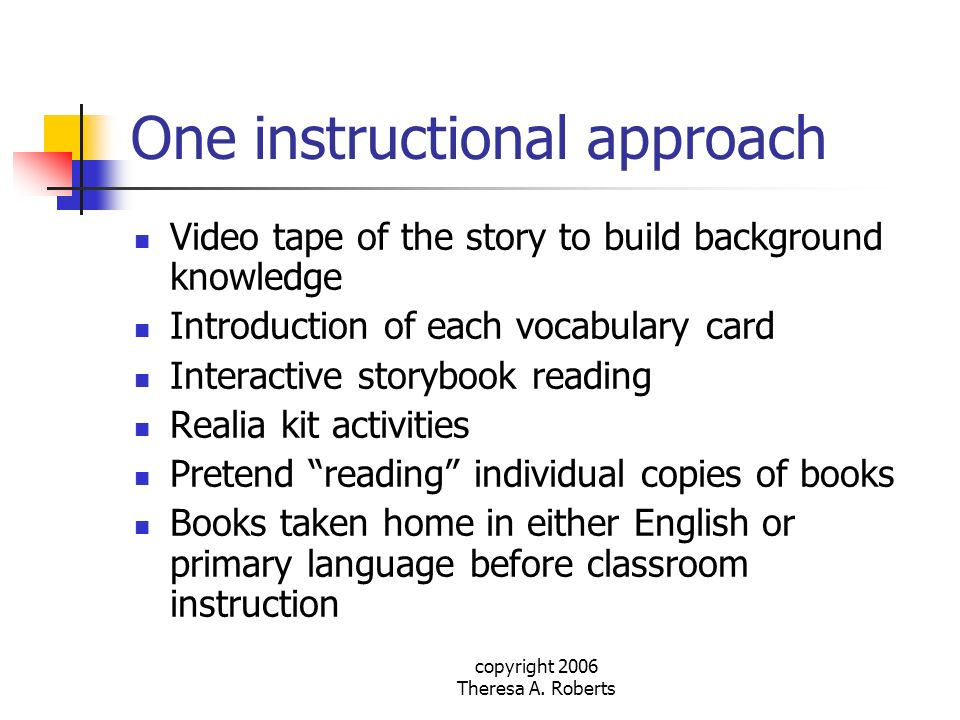 One instructional approach