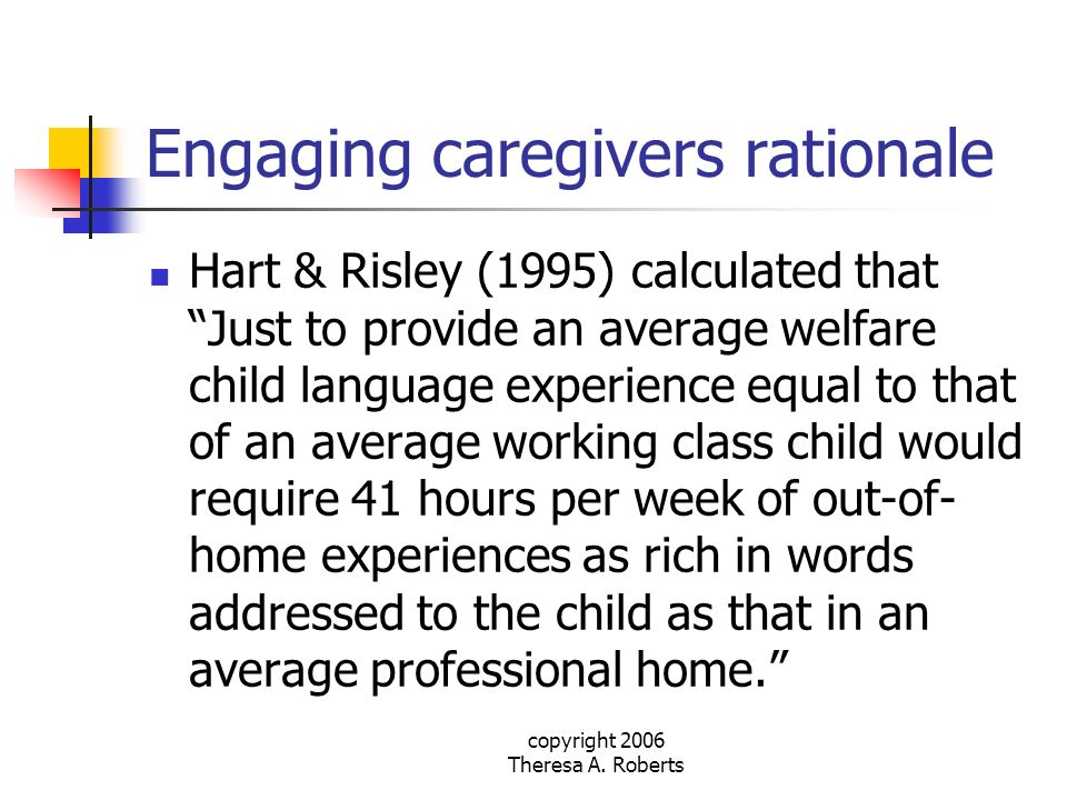 Engaging caregivers rationale