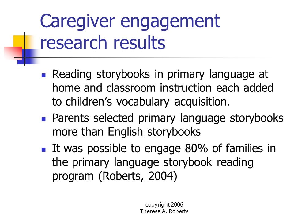Caregiver engagement research results