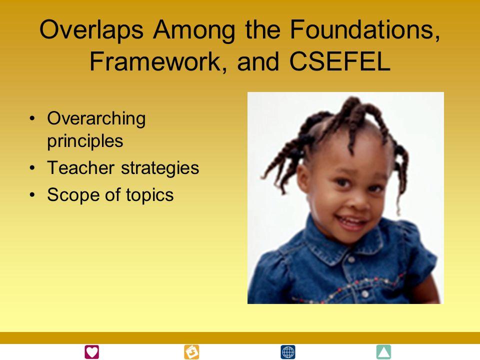 Overlaps Among the Foundations, Framework, and CSEFEL