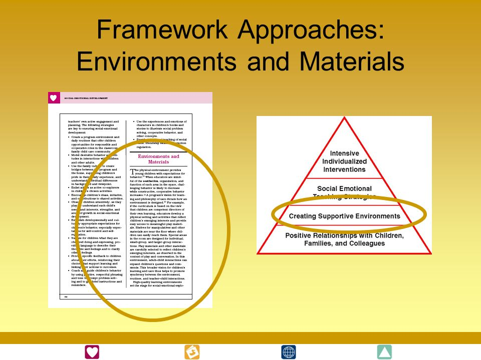 Framework Approaches: Environments and Materials