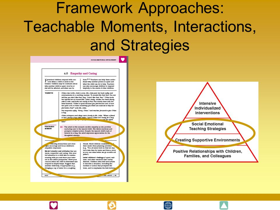 Framework Approaches: Teachable Moments, Interactions, and Strategies