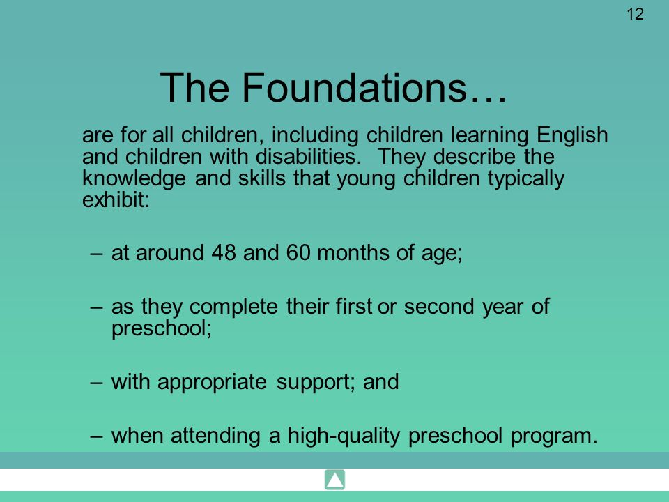 The Foundations…