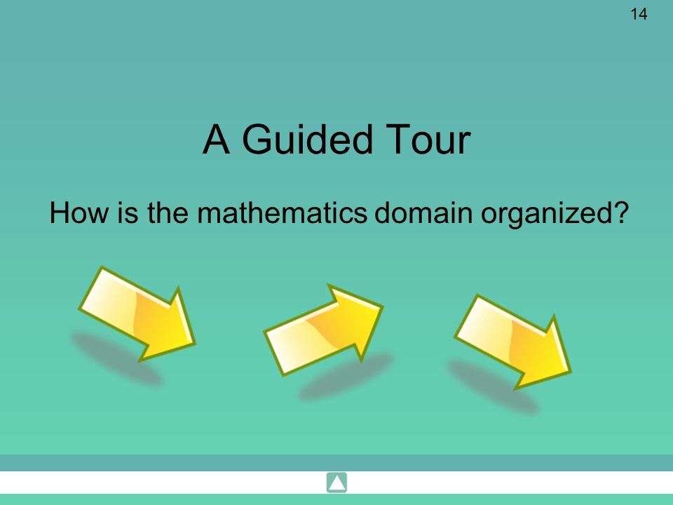 How is the mathematics domain organized