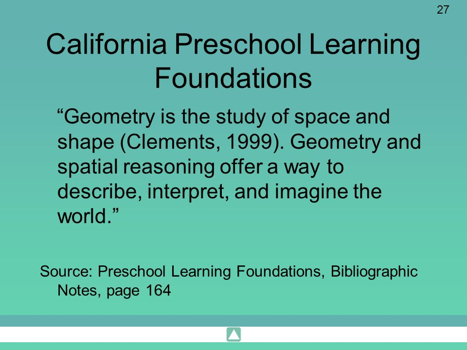 California Preschool Learning Foundations