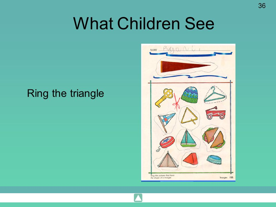 What Children See Ring the triangle