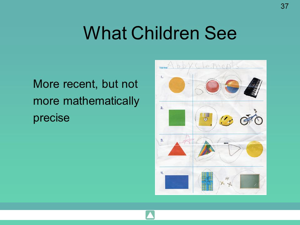 What Children See More recent, but not more mathematically precise