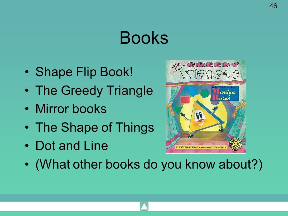 Books Shape Flip Book! The Greedy Triangle Mirror books