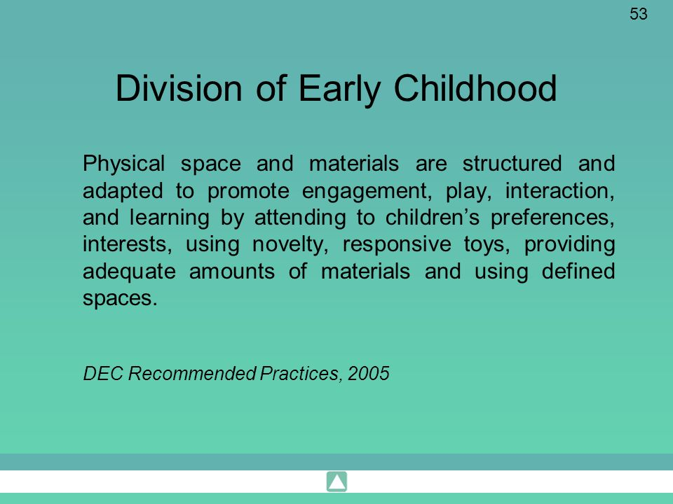 Division of Early Childhood