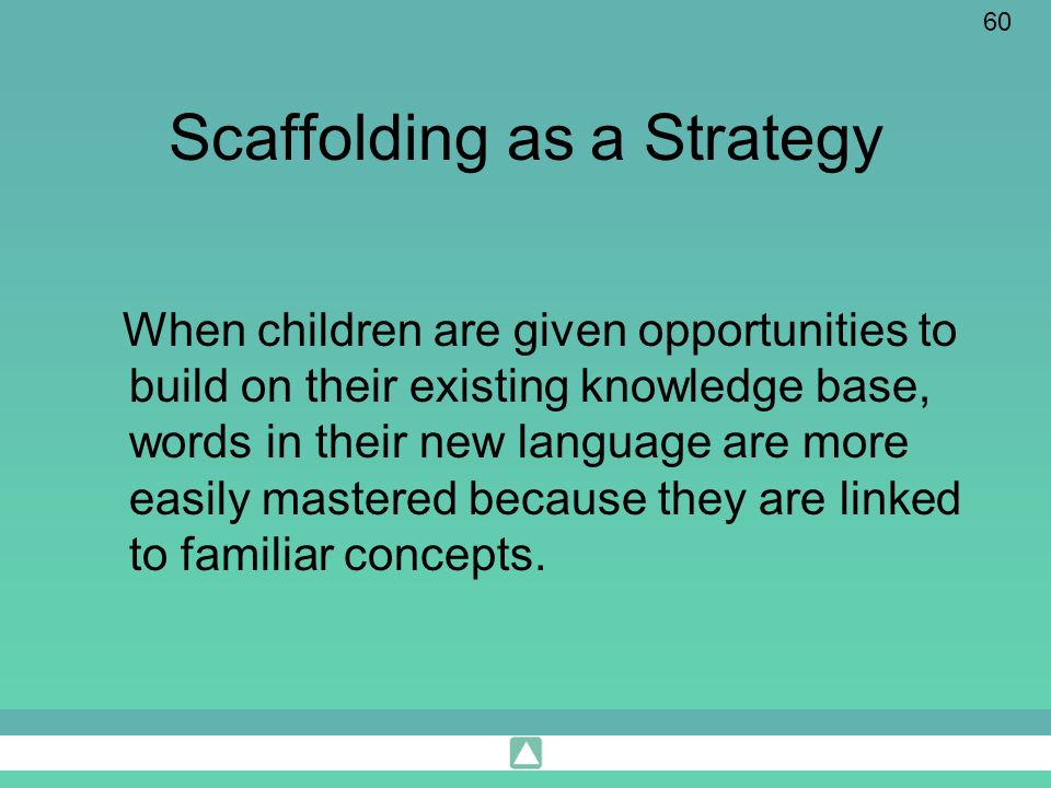 Scaffolding as a Strategy