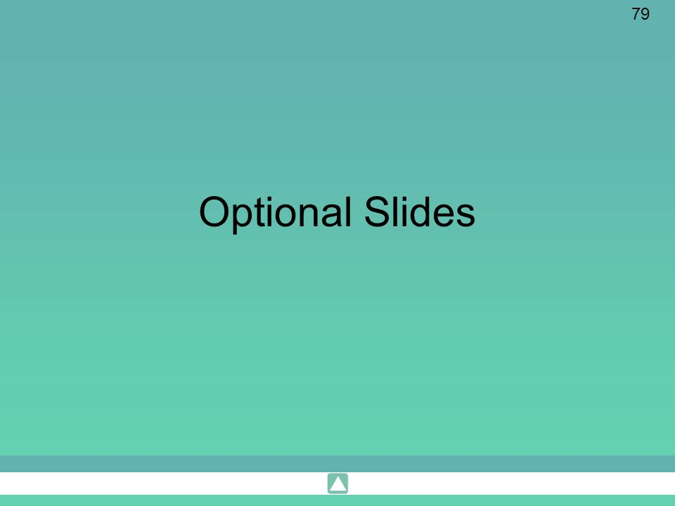 Optional Slides These should not be included in the ppt notes.