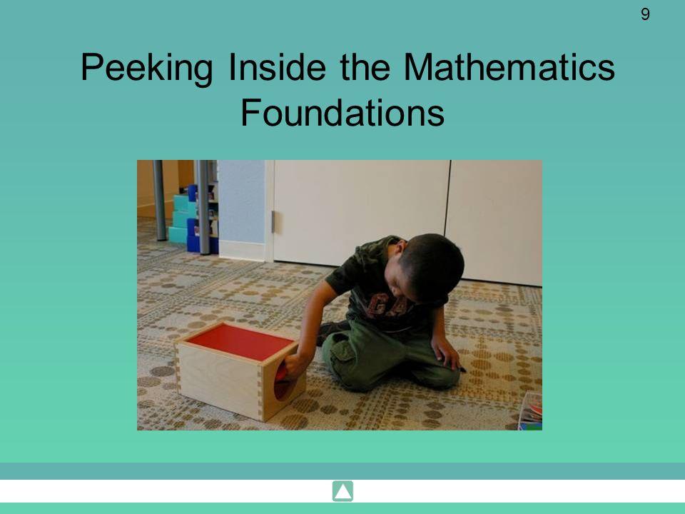 Peeking Inside the Mathematics Foundations