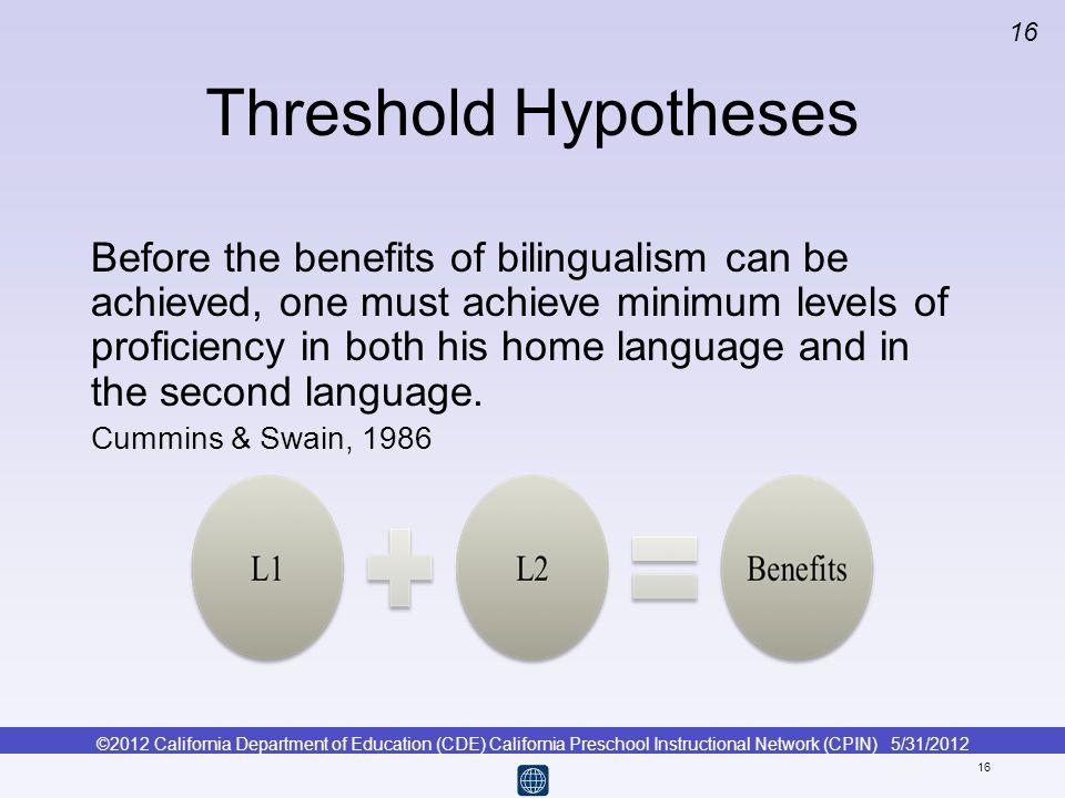 Threshold Hypotheses