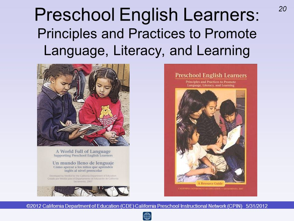 Preschool English Learners: Principles and Practices to Promote Language, Literacy, and Learning