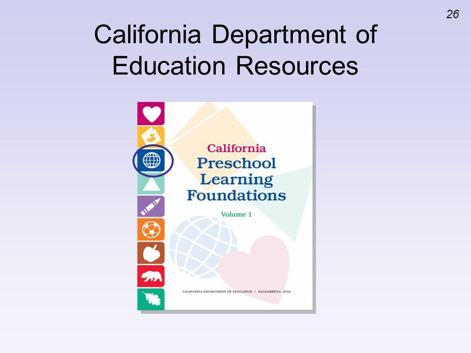 California Department of Education Resources