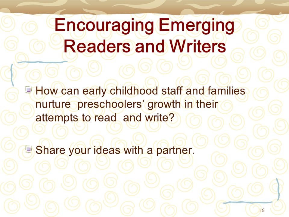 Encouraging Emerging Readers and Writers
