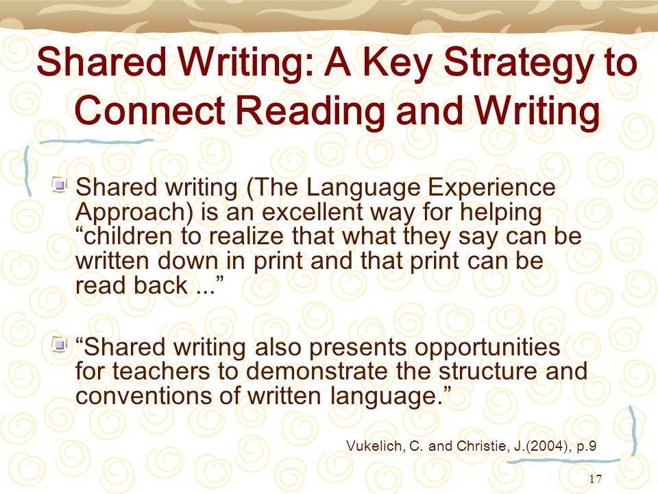 Shared Writing: A Key Strategy to Connect Reading and Writing