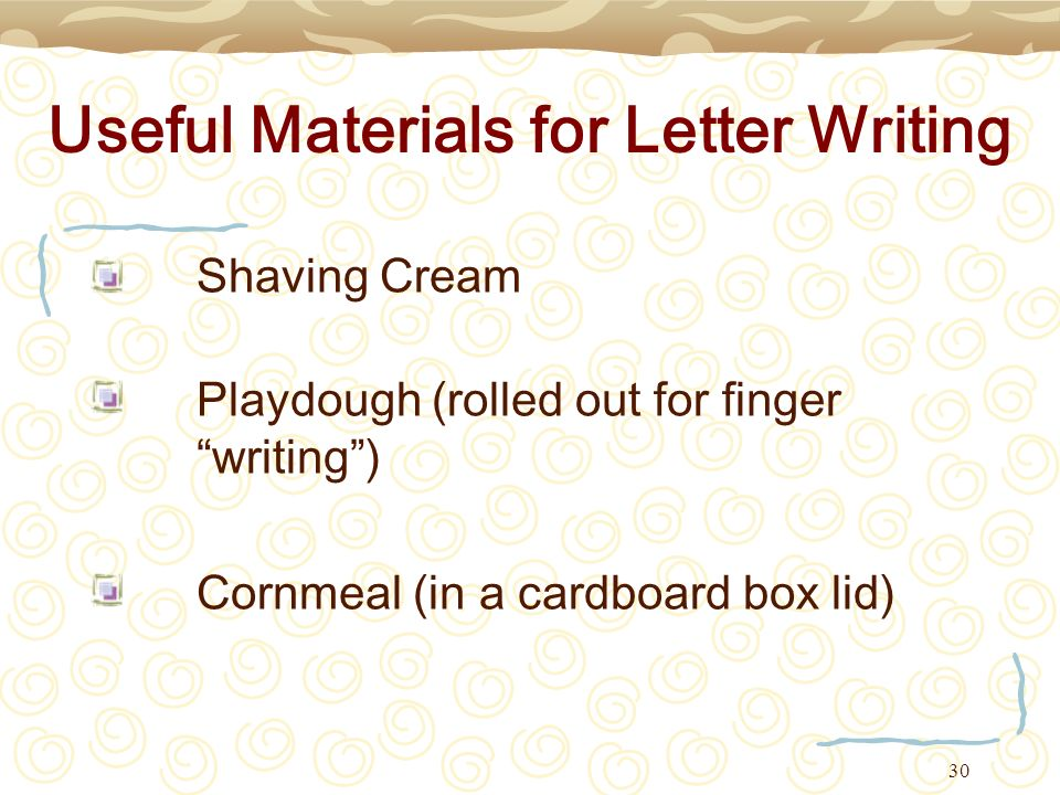 Useful Materials for Letter Writing