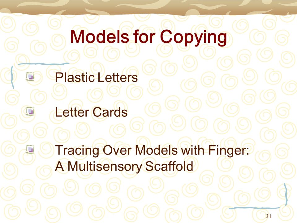 Models for Copying Plastic Letters Letter Cards