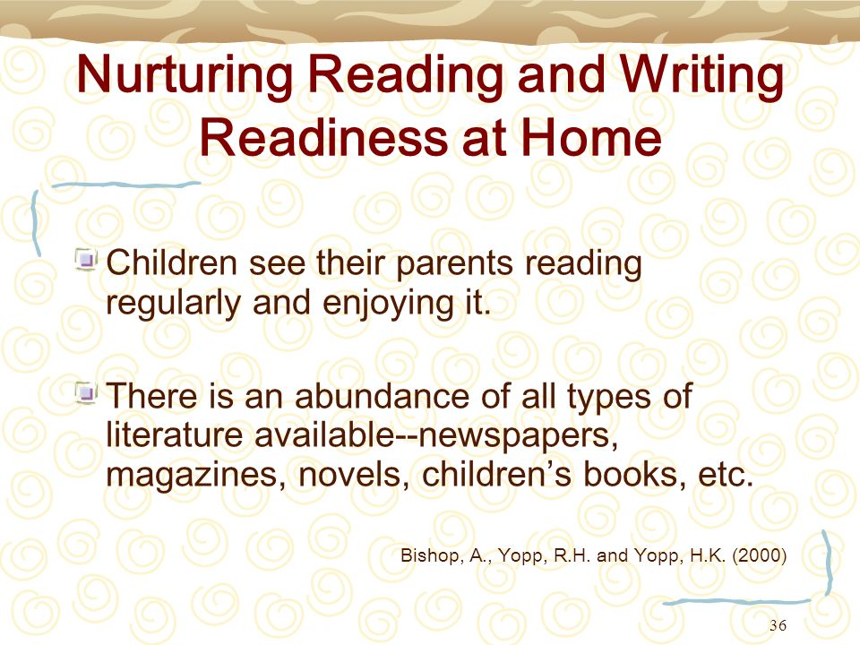 Nurturing Reading and Writing Readiness at Home